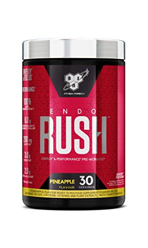 Bsn Endorush Pre Workout Powder With Creatine Monohydrate, Beta Alanine, Caffeine, Arginine & Citrulline By - Pineapple, 30 servings, 495g