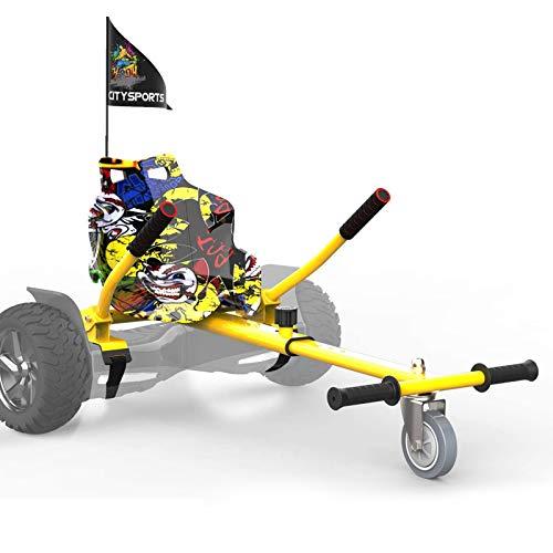 CITYSPORTS Hoverboard Sitz, Hoverkart mit Sitz,for All Hoverboard Electric Scooter Hovercart Universal verstellbare Befestigung, selbstausgleichender Roller Kompatibel von 6,5