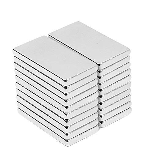 Neodym Magnete, 30 PCS Magnetics rechteckig Starke Bar Heavy Duty seltene Erden Magnete N52 NdFeB Rare Earth Permanentmagnet für DIY Building Craft Office