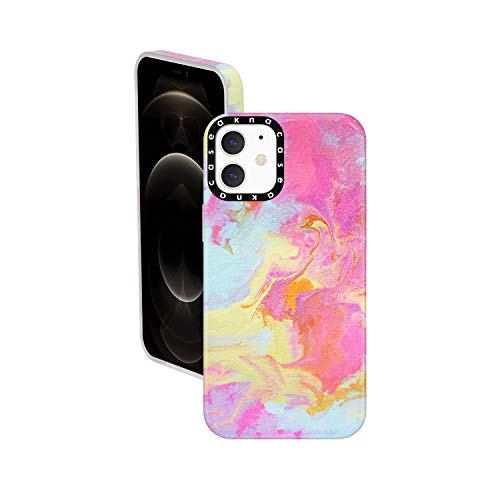 iPhone 12 Mini Case Watercolor, Akna Cat Series High Impact Silicon Cover with Ultra Full HD Graphics for iPhone 12 Mini (Design 102693-US)