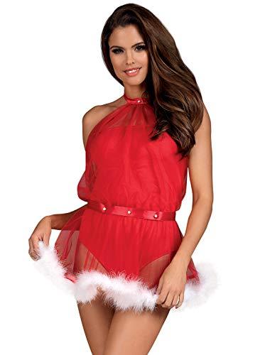Selente lencería navideña para Mujeres, Hecho en UE, S/M, body-vestido-2-en-2