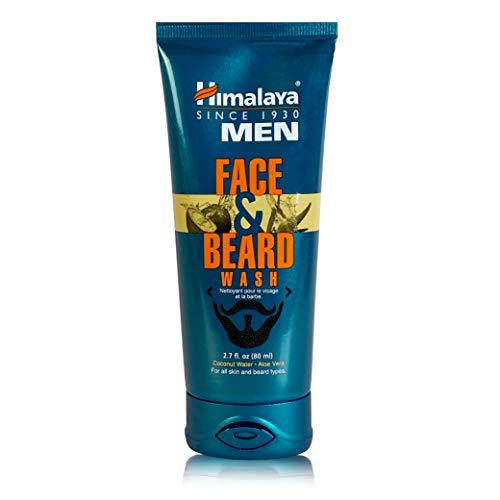 Himalaya Men's Face and Beard Wash, Daily Facial Cleanser and Beard Conditioner for a Clean and a Soft, Healthy, Hydrated and Tame Beard, Non-Drying, For All Skin Types, 80 ml
