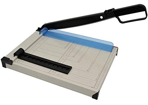 Hebelschneider A4 kompakt, Papierschneider aus Metall, Schneidemaschine für Foto, Papier, Pappe bis 200gr/m² und Papier, bis zu 8 Blatt in 80gr/m²
