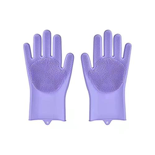 Vaatwasserijen handschoenen magische siliconen rubberen schotel washandschoenen voor huishoudelijke scrubber keuken…