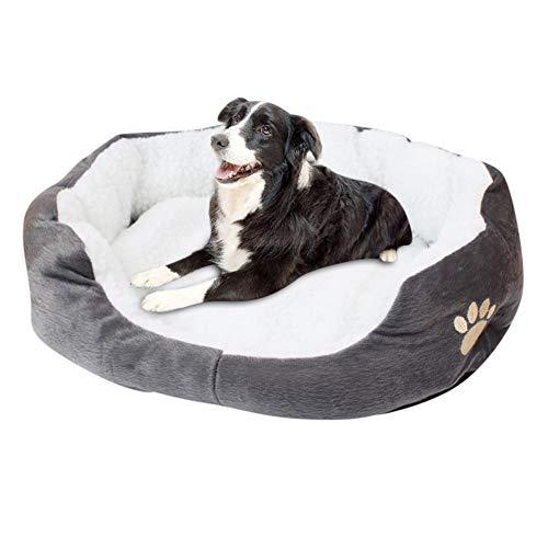 hanbby Cama Perro Mediano Cama para Gatos Caliente Cama del Perro Perro de la Comodidad de la Cama Perro Camas Esponjoso Gato Cama Cojín del Perro Gray,60 * 50cm