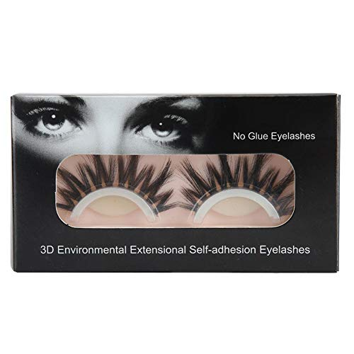 Dgtrhted Réutilisable 3D Faux Cils Auto-adhésif Mink Lashes Extensions Maquillage des Yeux bouclés naturels (3D-12)