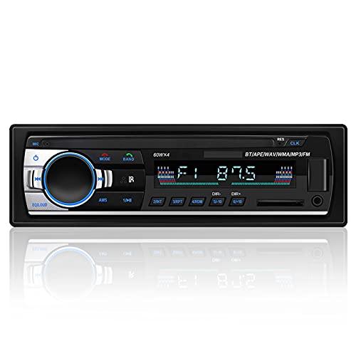 Radio Coche Bluetooth, Andven Manos Libres Radios para Coche Apoyo FM Función, Autoradio Estéreo con USB / SD / AUX / Control Remoto