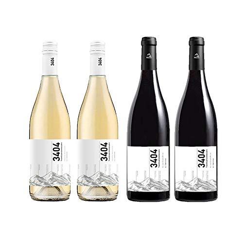 Vino Tinto y Blanco 3404 - D.O. Somontano - Mezclanza Barbadillo (Pack de 4 botellas)