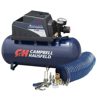 Campbell Hausfeld FP209499AV, Portable Electric Inflator, 0.33 HP, 3 Gal, Horizontal, 0.36 CFM