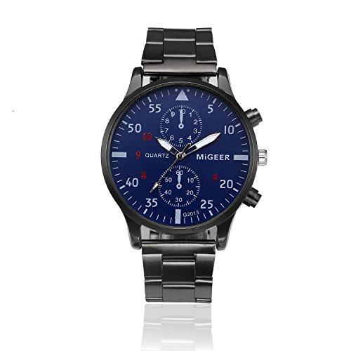 Celucke Armbanduhr Herren mit Edelstahl Metallarmband, Männer Uhren Business Herrenuhr Klassisch Quarzuhr Luxusuhren Analoguhr Herrenarmbanduhr