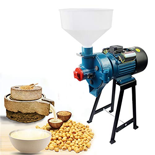 TFCFL Electric Mill Wet Cereals Grinder 110V 2200W 1400RPM Rice Corn Grain Wheat Oats Feed Soybeans Mill Grinder Grinding Miller Milling Machine with Funnel Wet Grinder Shipped within Two Packages -  KAHE, 60-61