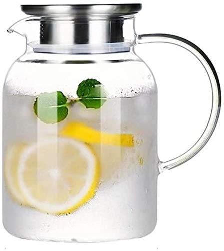 Tetera Tetera Taza 1,3 l / l Bidón jarro de agua con tapa jugo de borosilicato tetera de cristal hervidor de agua Resistencia al calor de contenedores bote de vidrio Jarra Adecuado for Hot Coffee (sol