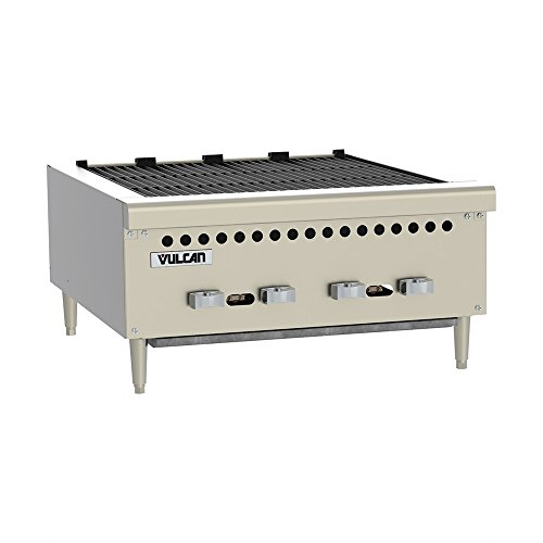 "Vulcan VCRB25 Charbroiler gas countertop 25-3/8"" (4) 14,500 BTU cast iron burner"