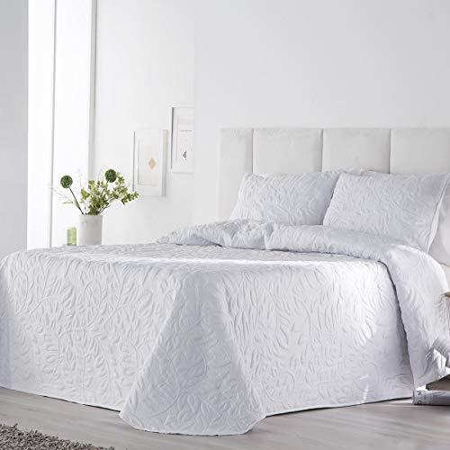 Antilo Fundeco - Colcha bouti Norma - Color Blanco - Cama 150 cm