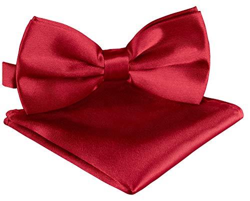 BomGuard Set cravatta a farfalla uomo + fazzoletto da taschino cravatta a farfalla donna