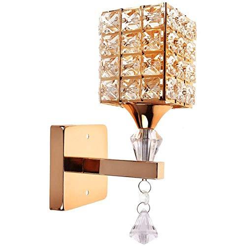 Modern style colgante en cristal pared lámpara cámara Aisle Living Wall cámara luz Holder E14Socket, bombilla no incluida