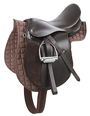 Kerbl 32198 Haflinger Saddle Set - Brown