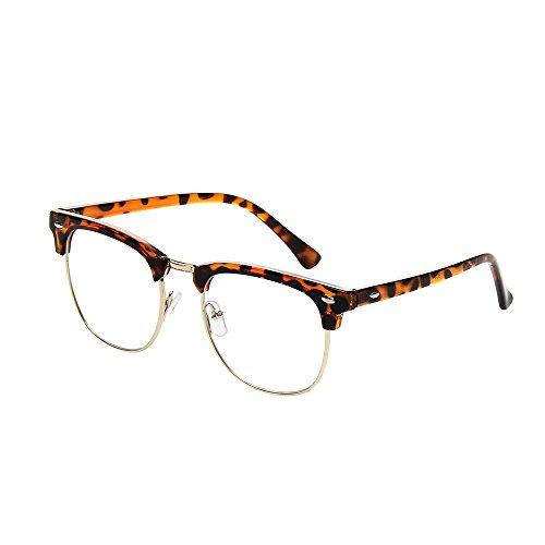 shiratori New Wayfarer Vintage Classic medio marco parcialmente sin montura lente transparente gafas...