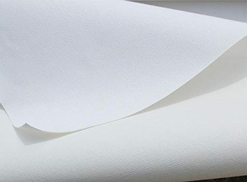 Rollo de tela virgen para pintura mezcla de lino, longitud: 5 m, algodón, 28 cm ancho