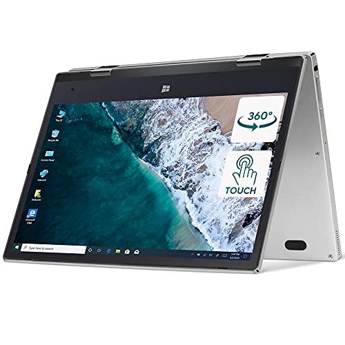 iProda Yoga Touchscreen Laptop, 11.6\'\' Windows10 Pro 360° Convertible Notebook, 2 in1 Tablet PC, Intel N4100 Ultralbook up to 2.4 GHz, 4G RAM, 64GB eMMC, 512 GB Erweiterter Speicher, FHD 1920 x 1080