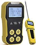 Multigas base + analizzatore di pompa, rilevatore, misuratore da FORENSICS O2, CO, H2S, LEL, ricarica USB, allarme sonoro, luce e vibrazione, ampio display e retroilluminazione.