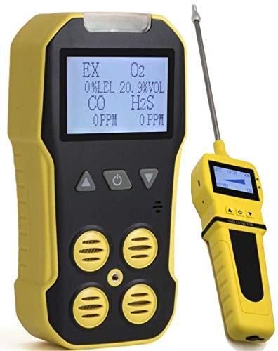 Forensics Basic Multigas + Pumpen-Analysegerät, Detektor, Messgerät von Forensics | O2, CO, H2S, LEL | USB-Aufladung | Sound-, Licht- und Vibrationsalarm | großes Display und Hintergrundbeleuchtung |