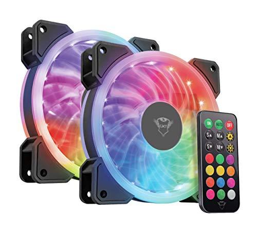 Trust Gaming Gxt 770 2 Rgb-Verlichte Ventilators Voor Pc-Behuizing, Zwart