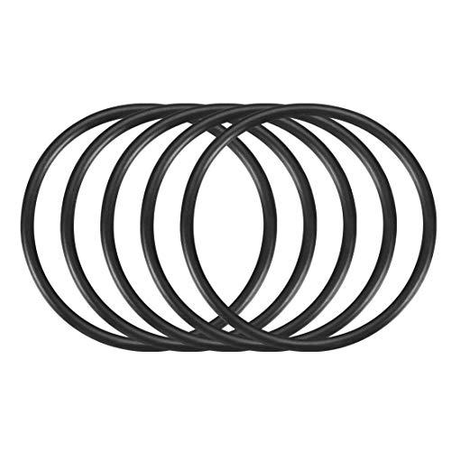 uxcell Nitrile Rubber O-Rings, 54mm OD 48mm ID 3mm Width, Metric Buna-N Sealing Gasket, Pack of 10