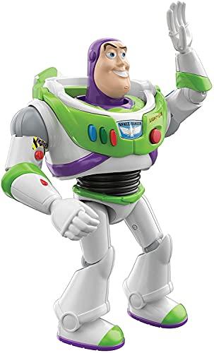 Figura Articulada e com som Buzz Lightyear Interativo (Interactables) de 18 cm, Toy Story, HBK91, Mattel