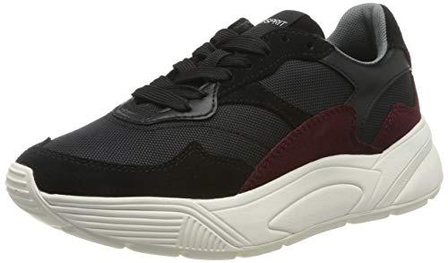ESPRIT Damen Misha Nylon LU Sneaker, Schwarz (Black 001), 38 EU