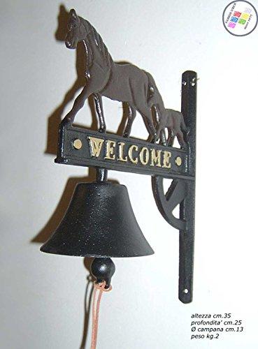 Bel voor buiten, gietijzer, Welcome Horses
