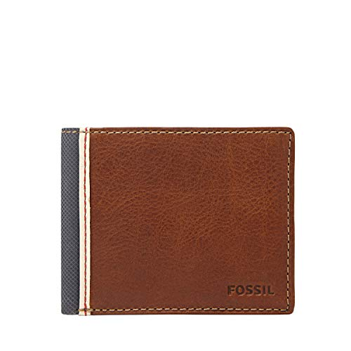 Fossil Men's Elgin Leather Bifold Flip ID Wallet, Brown