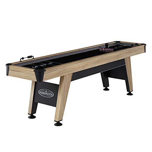 Barrington Billiards Wentworth 9 Foot Shuffleboard Table, Black/Tan