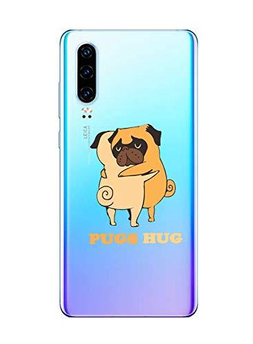 Oihxse Transparent Coque pour Huawei Nova 6 Etui en Silicone Souple Gel TPU Protecteur Bumper Hybrid [Ultra Mince] [Antichoc] [Anti-Scratch] Chien Motif Design Housse (A9)