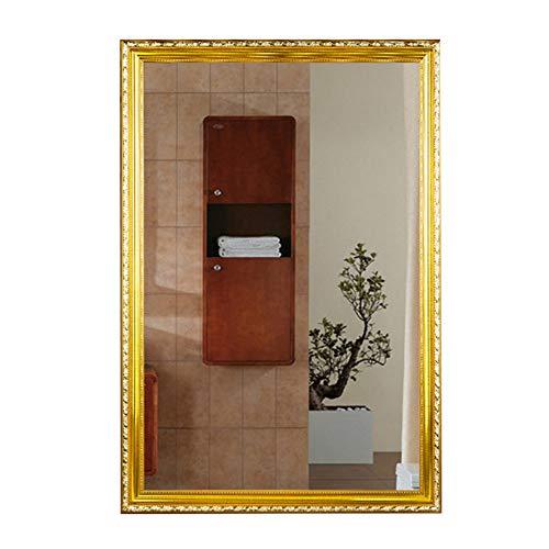 Badkamerspiegel met, Framed Mirror Bathroom Punch Free Wall Mount Bathroom Mirror Macro