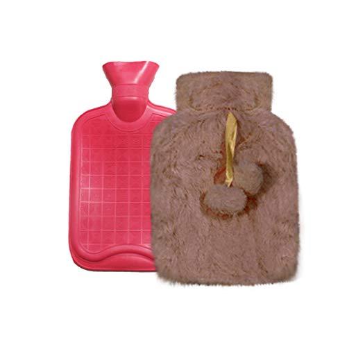 Bolsa de agua caliente con funda, bolsa de agua caliente con funda de punto, cojín térmico, seguro y duradero, probado y libre de contaminantes, el regalo perfecto