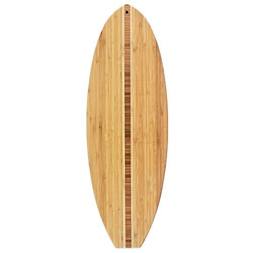 Totally Bamboo surfboard cutting board, 23x7.5 Inches