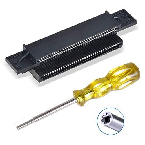 Conector de 72 pines Adaptador de conector NES Ranura de cartucho de...