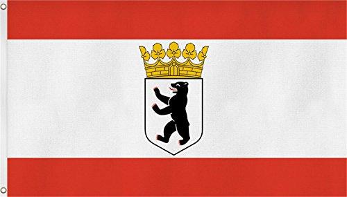 normani TOP QUALITÄT !! Fahne Flagge, Grösse: ca. 90x150 cm, Ordentliche Stoffqualität - Stoffgewicht ca. 110 gr/m2 Farbe Berlin