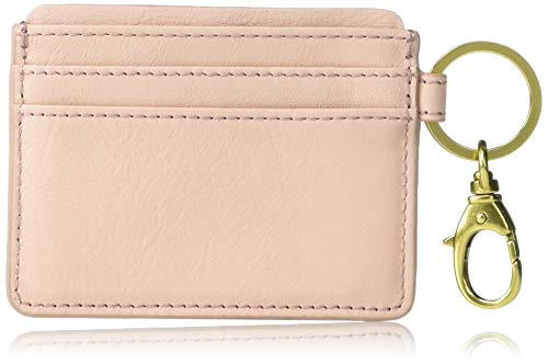 Fossil Lee Leather Card Case Wallet with Keyring Attachment,3.88