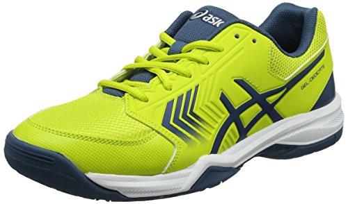 Asics Gel-Dedicate 5, Zapatillas de Tenis para Hombre, Amarillo (Sulphur Spring/Ink Blue/Silver 8945), 42.5 EU
