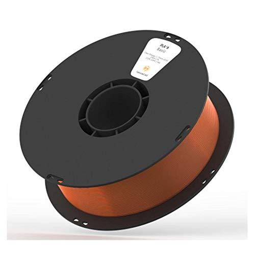3D-Druckerfilament 1 kg, Pla K5t-Material 1,75 mm, hohe Zähigkeit, hohe Transparenz-Transparentes Orange