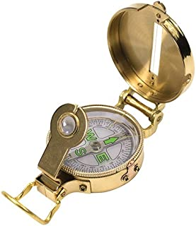 UST Heritage Lensatic Compass with Lightweight Brass Construction for Camping, Hiking, Backpacking, Hunting and Outdoor Su...