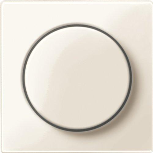 Merten MEG5250-0344 Zentralplatte mit Drehknopf, weiß glänzend, System M