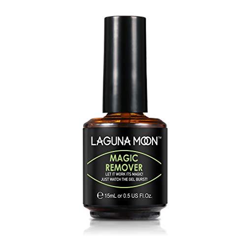 Lagunamoon Removedor Mágico, Magic Remover para Esmaltes Permanentes, Quitaesmaltes para Esmaltes Semipermanentes en Gel UV LED Soak off 15ml