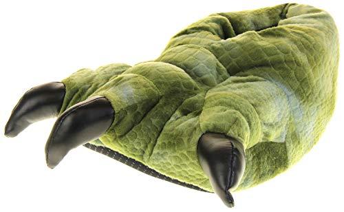 Dunlop Hombre Marrón Piel De Imitación Monstruo Garra Novedad Pantuflas EU 42-43
