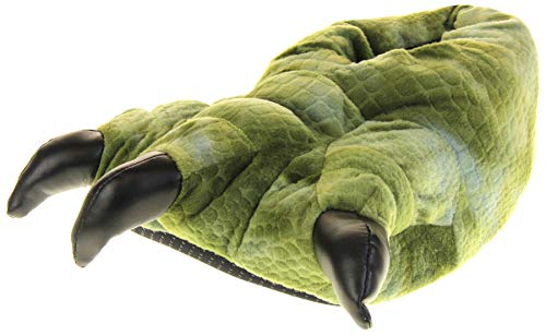 Dunlop Herren Dino Kunstpelz Monster Claws Neuheit Pantoffeln,Gr Ne Dinosaurier Klaue,40/41 EU (S)