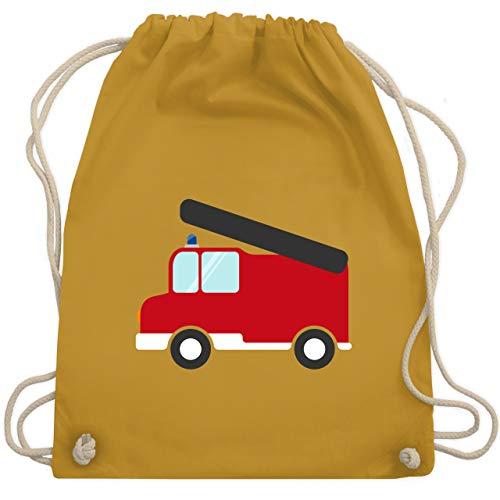 Shirtracer Feuerwehr Kind - Feuerwehr Auto - Unisize - Senfgelb - kinder turnbeutel - WM110 - Turnbeutel und Stoffbeutel aus Baumwolle