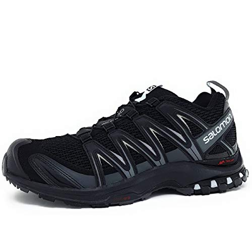 Salomon XA Pro 3D, Zapatillas de Trail Running para Hombre, Negro (Black/Magnet/Quiet Shade), 42 2/3 EU