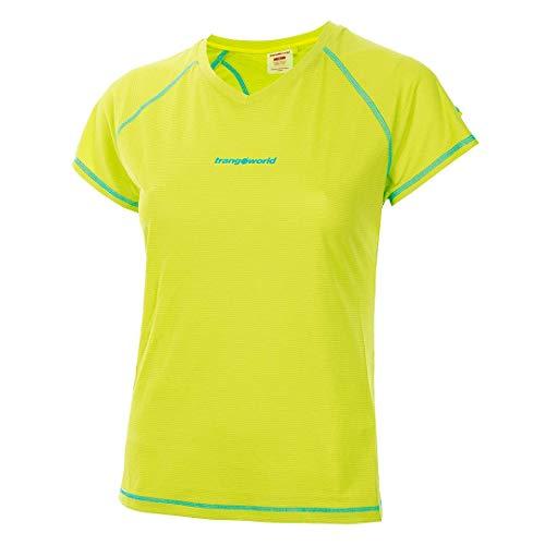 Trangoworld Musia Camiseta, Mujer, Verde Lima/Azul Turquesa, 2XL